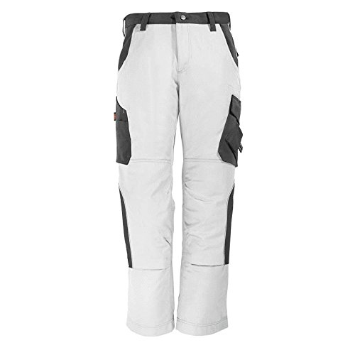 "FHB 130430-1012-60 Size 60 ""Bruno"" Trousers - White/Anthracite from FHB"