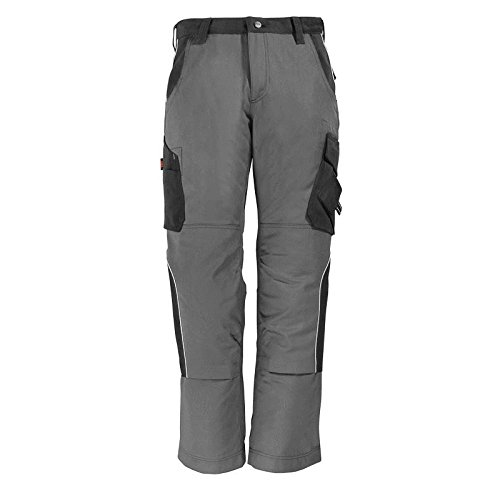 "FHB 130430-1120-114 Size 114 ""Bruno"" Trousers - Grey/Black from FHB"