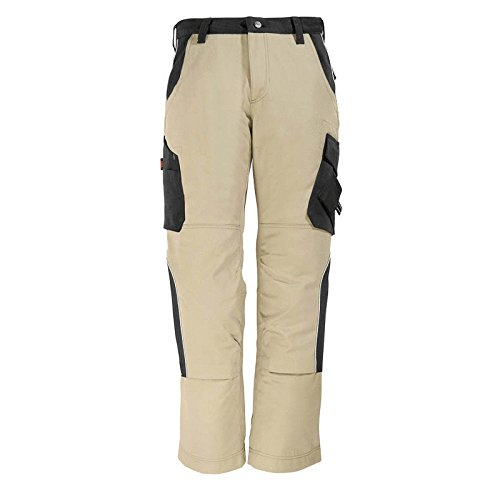 "FHB 130430-1320-88 Size 88 ""Bruno"" Work Trousers - Beige/Black from FHB"