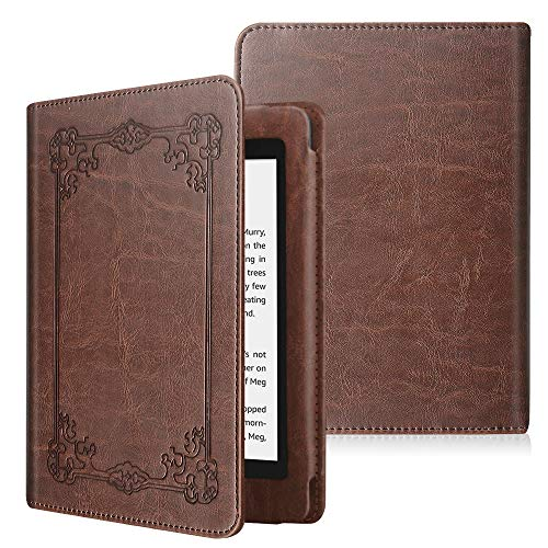 Fintie Folio Case for Kindle Paperwhite (Fits All-New 10th Generation 2018 / All Paperwhite Generations) - Book Style Vegan Leather Shockproof Cover with Auto Sleep/Wake, Vintage Antique Bronze from FINTIE