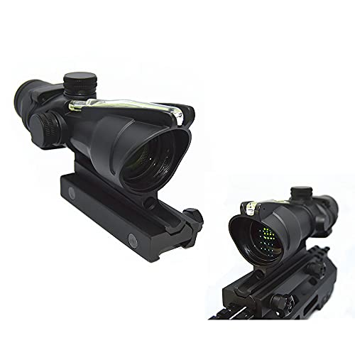 FIRECLUB ACOG Style 4X32 scope True Fiber Red/Green Illuminated Crosshair (Green Fiber) from FIRECLUB