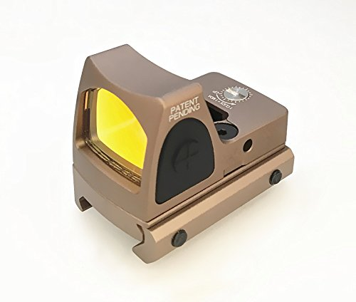 FIRECLUB Airsoft RMR style Mini Micro Red Dot Sight Black w/ Side ON/OFF switch (sand) from FIRECLUB