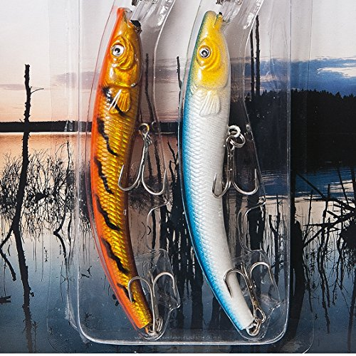 FLADEN 2 Piece Freshwater DEEP DIVING WOBBLER PLUG Bait Lure Pack (SET 1) - 16cm - 14.5g - For Pike Perch and Zander [16-7532] from FLADEN