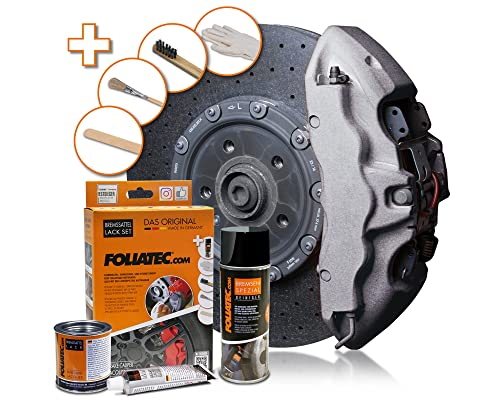 FOLIATEC FT2172 Brake Caliper Paint Lacquer, Statos Silver-Metallic, Set of 3 from FOLIATEC