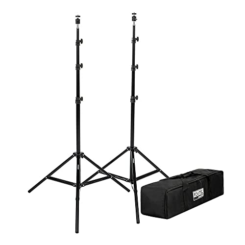 "Fovitec - 2x 7'6"" Light Stand VR Compatible Kit w/Ball Head Mount - [HTC Vive and VR Edition][For Photo and Video][Includes Carrying Bag] from FOVITEC"