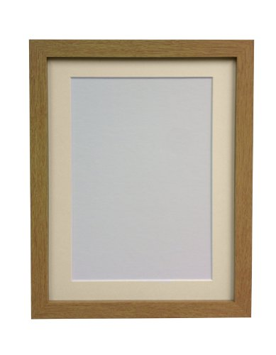 FRAMES BY POST 25 mm Wide H7 Oak Picture Photo Frame with Ivory Mount 20 x 16 Picture Size A3 (Plastic Glass) from FRAMES BY POST