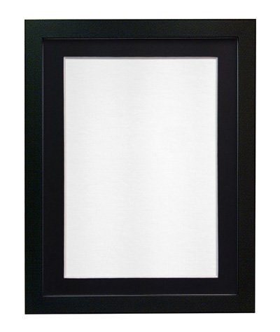 FRAMES BY POST 25 mm Wide H7 Picture Photo Frame with Black Mount A3 Picture Size A4 from FRAMES BY POST