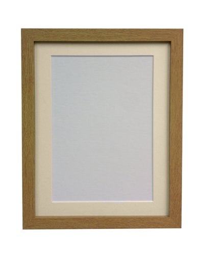 FRAMES BY POST 25 mm Wide H7 Oak Picture Photo Frame with Ivory Mount 9 x 7 Picture Size 7 x 5 from FRAMES BY POST
