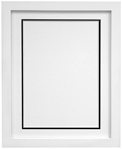 "FRAMES BY POST H7 White Picture Photo Frame With White and Black Double Mount 24""x20"" for Pic Size 20""x16"" (Plastic Glass) from FRAMES BY POST"