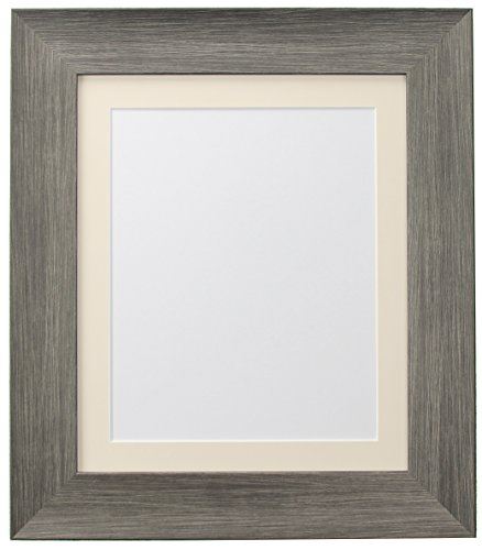 FRAMES BY POST Hygge Picture Photo Frame, Plastic Glass, Wolf Grey with Ivory Mount, 60 x 80 Image Size 50 x 70 cm from FRAMES BY POST