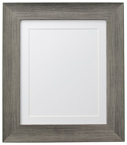 FRAMES BY POST Hygge Picture Photo Frame, Plastic Glass, Wolf Grey with White Mount, 24 x 20 Image Size 20 x 16 Inches from FRAMES BY POST