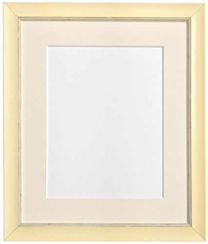 "FRAMES BY POST Nordic Distressed Cream Photo Frame with Ivory Mount 7""x5"" Pic Size 5""x3.5"" from FRAMES BY POST"