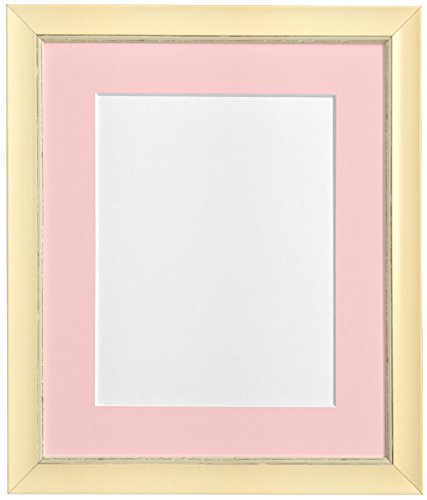 "FRAMES BY POST Nordic Distressed Cream Photo Frame with Pink Mount 8""x8"" Pic Size 5""x5"" from FRAMES BY POST"