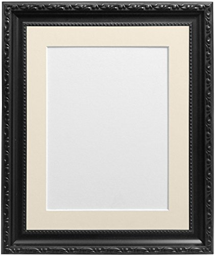 FRAMES BY POST Shabby Chic Black Picture Photo Frame with Ivory mount 10 x 8 For Image size 7 x 5 inch from FRAMES BY POST