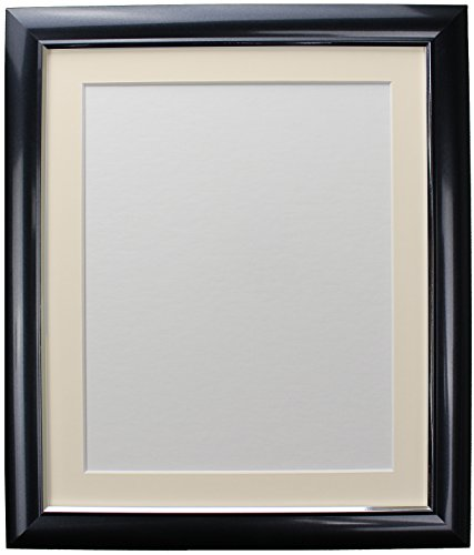 FRAMES BY POST Soda Picture Photo Frame, Plastic, Charcoal with Ivory Mount, 36 x 24 Image Size 30 x 20 Inch from FRAMES BY POST