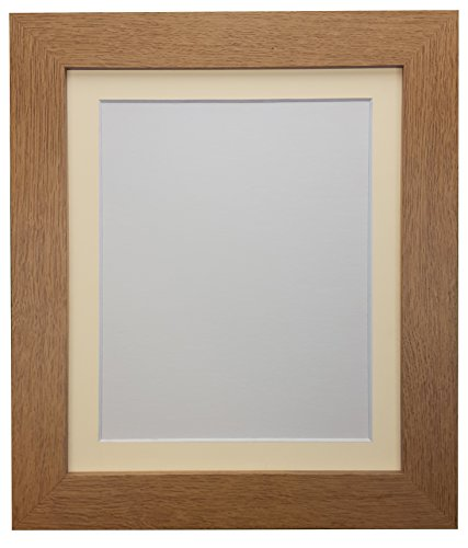 FRAMES BY POST Metro Oak Frame with Ivory Mount A1 For Image size A2 from FRAMES BY POST