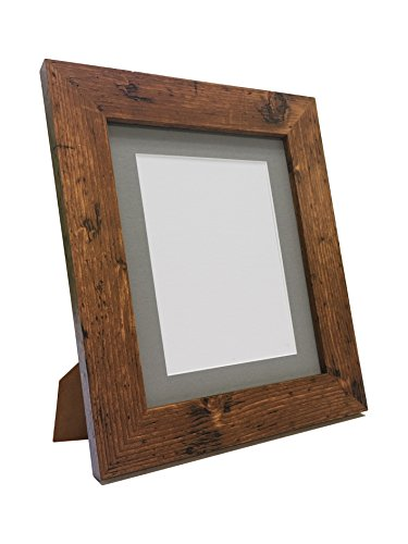 FRAMES BY POST Metro Vintage Wood Photo Picture Poster Frame with Dark Grey Mount 10 x 8 Image Size A5 from FRAMES BY POST