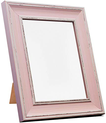 FRAMES BY POST Scandi Vintage Distressed Pink Picture Photo Frame 14 x 11 inch from FRAMES BY POST