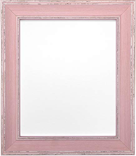 FRAMES BY POST Scandi Vintage Distressed Pink Picture Photo Frame A1 (Plastic Glass) from FRAMES BY POST