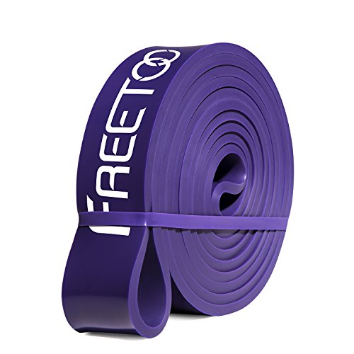 FREETOO Best Workout Rubber Band Resistance Bands Heavy Elastic 5 Levels Choose Home Gyms Exercises Loop Weight Training Body Building for Man and Woman(Purple) from FREETOO