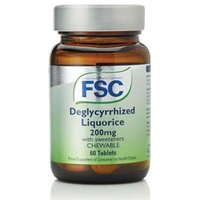 FSC Deglycyrrhized Liquorice 200mg Chewable  With Sweeteners 60 Tablets from FSC