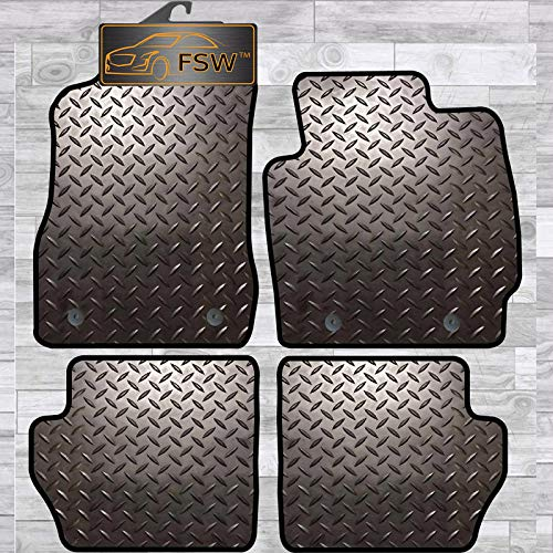 FSW 2 2007-2015 On With Clips Tailored 3MM Waterproof Rubber Heavy Duty Car Floor Mats from FSW
