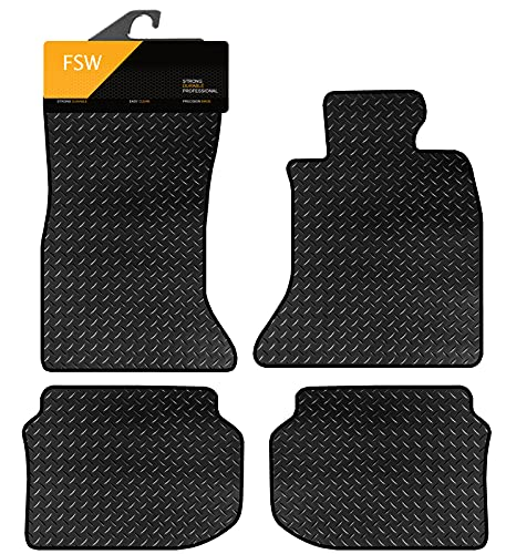 FSW 5 Series F10-F11 2010-2013 Tailored 3MM Waterproof Rubber Heavy Duty Car Floor Mats from FSW