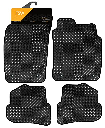 FSW A1 2010 Tailored 3MM Waterproof Rubber Heavy Duty Car Floor Mats from FSW