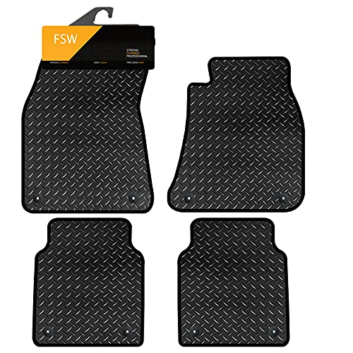 FSW A8 Lwb 2010-On Tailored 3MM Waterproof Rubber Heavy Duty Car Floor Mats from FSW