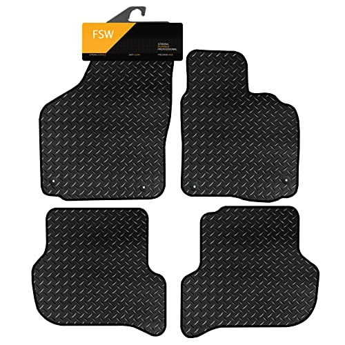FSW Altea 2004-2008 Clips Tailored 3MM Waterproof Rubber Heavy Duty Car Floor Mats from FSW