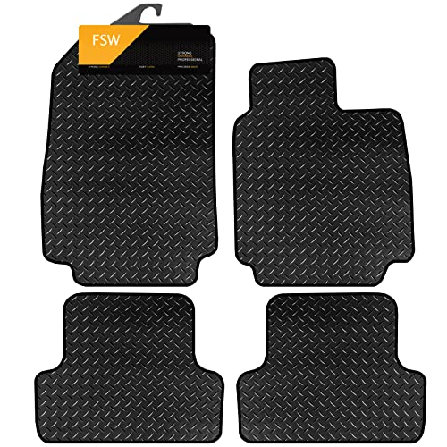 FSW Clio 2006-2009 Tailored 3MM Waterproof Rubber Heavy Duty Car Floor Mats from FSW