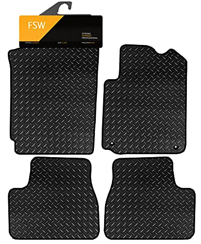 FSW Ds3 2010-On Tailored 3MM Waterproof Rubber Heavy Duty Car Floor Mats from FSW