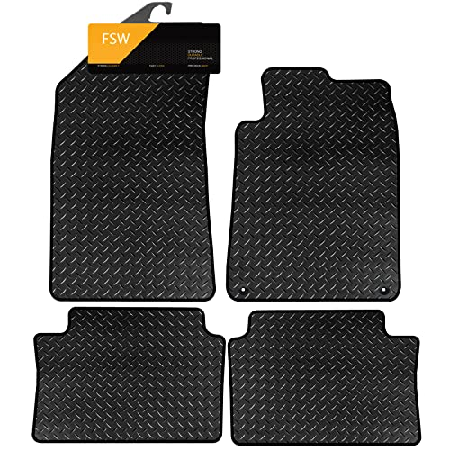 FSW 508 Sw 2011-On Tailored 3MM Waterproof Rubber Heavy Duty Car Floor Mats from FSW