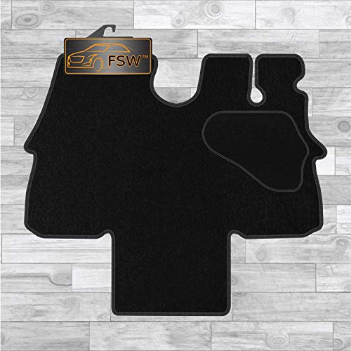 FSW Ducato Van 1994-2006 Motor Home Tailored Carpet Floor Mat Black from FSW