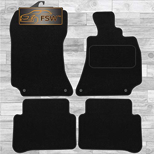 FSW E Class 2013-2016 Tailored Carpet Car Floor Mats Black With Clip from FSW