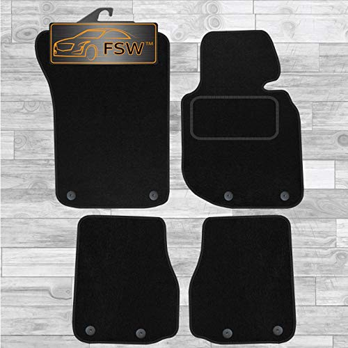 FSW E36 3 Series Cab 1993-1999 Tailored Carpet Car Floor Mats Black 4 Pc from FSW