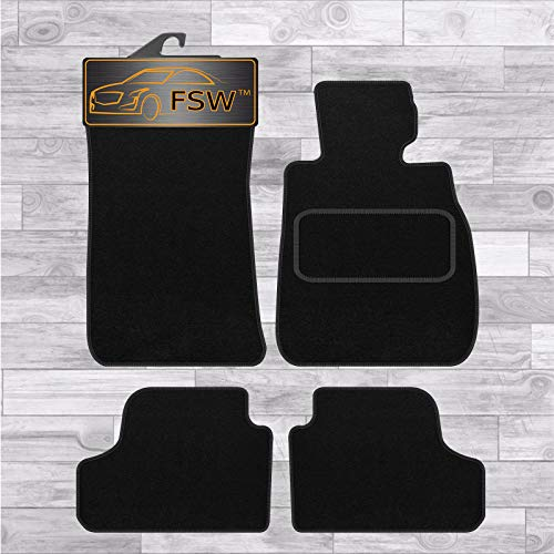 FSW E93 3 Series Cab 07-12 Tailored Carpet Floor Mat Black 4 Pc 2 Clip from FSW
