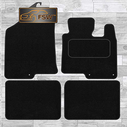 FSW I40 Tailored Carpet Car Floor Mats Black from FSW