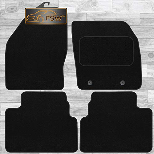 FSW Kuga 2012-2013 With New Clip Tailored Carpet Car Floor Mats Black from FSW