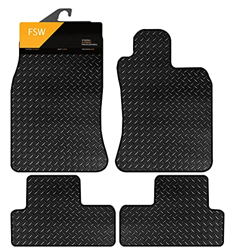 FSW Mini Not Clubman 2002-2006 Tailored 3MM Waterproof Rubber Heavy Duty Mats Black from FSW