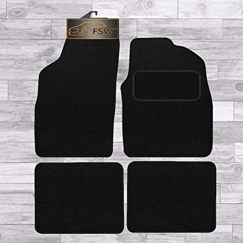 FSW Panda 2006-2012 Tailored Carpet Car Floor Mats Black from FSW