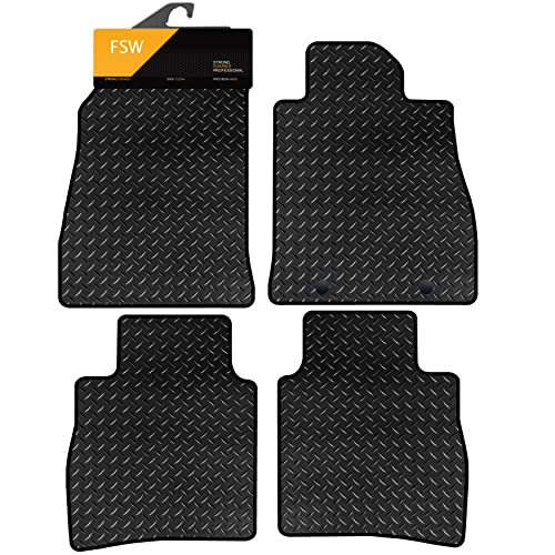 FSW Pulsar 2014On Tailored 3MM Waterproof Rubber Heavy Duty Car Floor Mats from FSW