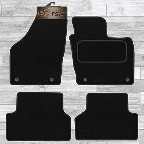 FSW Q3 2011-2018 Tailored Carpet Car Floor Mats 4Pc 4 Clips - Black from FSW