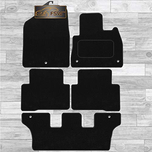 FSW Santa Fe 2012-On 5Pce Set Tailored Carpet Car Floor Mats Black from FSW