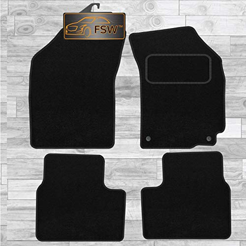 FSW Swift 2010-2017 Hatchback Tailored Carpet Car Floor Mats Black from FSW