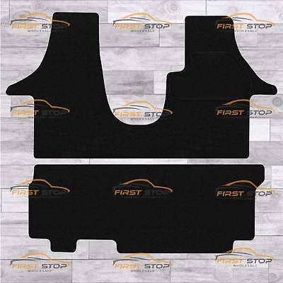 FSW T6 Combi Twin Side Door 1+2 Rear Tailored Carpet Floor Mat Black from FSW
