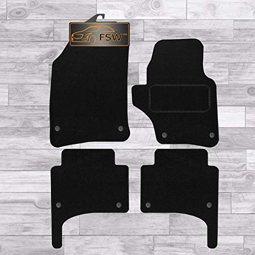 FSW Touareg To 09 Oval Clips Tailored Carpet Car Floor Mats Black from FSW