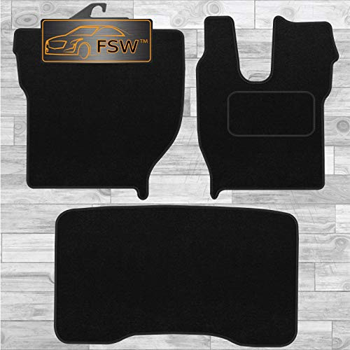 FSW - Tailored Truck Mat - FH13 2014-ON - Black Carpet | Anti Slip Truck Floor Mat, Fitted With Granulated Backing, Edged With Black Cloth Binding - 3Pc Floor Mat Only from FSW
