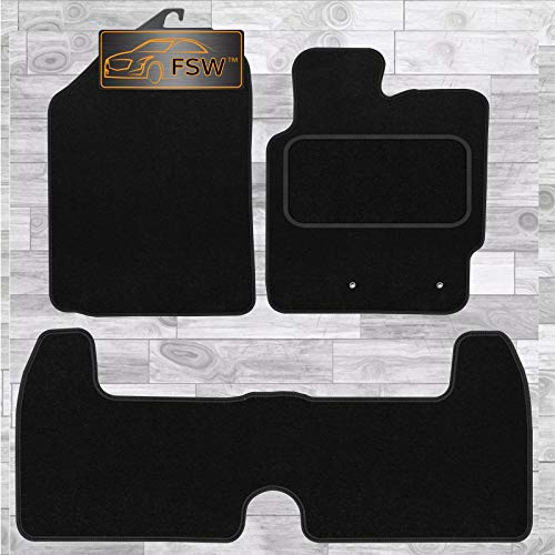 FSW Urban Cruiser 2009-2012 Tailored Carpet Car Floor Mats Black from FSW
