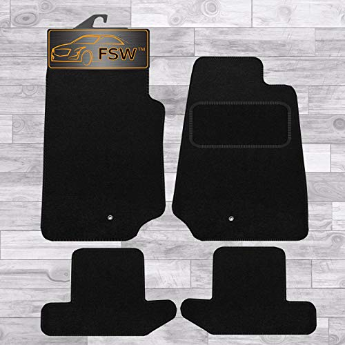 FSW Wrangler 2 Dr 2007-On Tailored Carpet Car Floor Mats Black from FSW